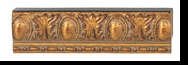 Custom Picture Frame Style #2003 - Ornate - Antique Gold Finish