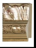 Custom Picture Frame Style #2039 - Ornate - Antique Gold Finish