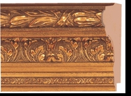 Custom Picture Frame Style #2040 - Ornate - Antique Gold Finish