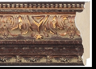 Custom Picture Frame Style #2187 - Ornate - Gold Finish