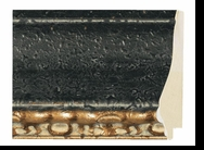 Custom Picture Frame Style #2365 - Distressed/Aged - Black Finish