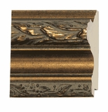 Custom Picture Frame Style #2034 - Ornate - Antique Gold Finish