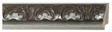 Custom Picture Frame Style #2256 - Ornate - Silver Finish
