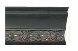 Custom Picture Frame Style #2361 - Distressed/Aged - Black Finish