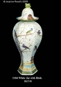 Jeanne Reed's - White Jar w/birds
