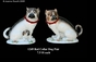 Jeanne Reed's - Dog Pair w/Red Collar