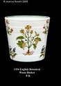 "Jeanne Reed's - Waste Basket ""English Botanical"""