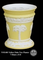 Jeanne Reed's - Palm Tree Flower Pot - yellow