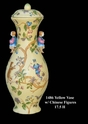 Jeanne Reed's - Yellow Vase w/Chinese Figures