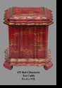 Jeanne Reeds - Tea Caddy - Red