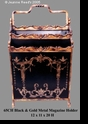 Jeanne Reed's - Magazine Holder - black/gold