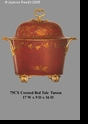Jeanne Reed's - Tureen - red Tole