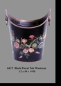 Jeanne Reed's - Waste Can - black floral