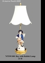 Jeanne Reed's - Lamp - Boy w/rabbit