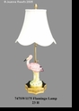 Jeanne Reed's - Lamp - Flamingo **