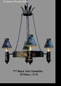 Jeanne Reed's - Black Tole Chandelier