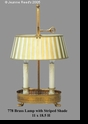 Jeanne Reed's - Brass Lamp/tole shade - gold stripes