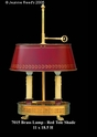 Jeanne Reed's - Brass Lamp/tole shade - red