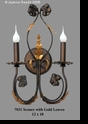 Jeanne Reed's - Metal Sconce w/gold Leaves