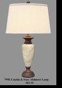 Jeanne Reed's - Alabaster Lamp - crackle & ivory