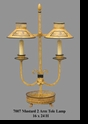 Jeanne Reed's - 2 Arm Lamp - mustard