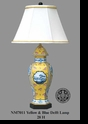 Jeanne Reed's - Yellow & Blue Delft Lamp