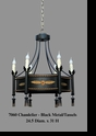 Jeanne Reed's - Chandelier - Black Metal/Tassels