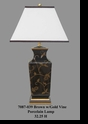 Jeanne Reed's - Brown w/Gold Vine Porcelain Lamp