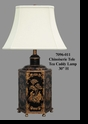 Jeanne Reed's - Chinoiserie Tole Tea Caddy Lamp