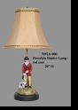 Jeanne Reed's - Porcelain Hunter Lamp - red coat