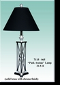 "Jeanne Reed's - ""Park Avenue"" Lamp/black shade"