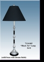 "Jeanne Reed's - ""Black Tie"" Lamp/black shade"