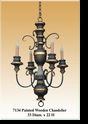 Jeanne Reed's - Painted Wooden Chandelier