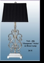 "Jeanne Reed's - ""Hamptons Brass Lamp with Nickel Finish"