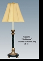 "Jeanne Reed's - ""Wellington"" Marble & Brass Lamp"