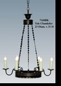 Jeanne Reed's - Black & Gold Tole Chandelier