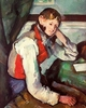 Art - Oil Paintings - Masterpiece #4013 - Paul Cezanne - Boy in a Red Waistcoat - Gallery Quality