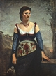 Art - Oil Paintings - Masterpiece #4022 - Jean Baptiste Camille Corot - Agostina2 - Museum Quality