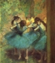 Art - Oil Paintings - Masterpiece #4042 - Edgar Degas - Dancers in Blue - Gallery Quality