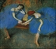 Art - Oil Paintings - Masterpiece #4044 - Edgar Degas - Two Dancers in Blue - Gallery Quality