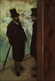 Art - Oil Paintings - Masterpiece #4068 - Edgar Degas - Halevy and Cave Backstage at the Opera - Gallery Quality