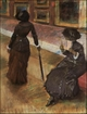 Art - Oil Paintings - Masterpiece #4088 - Edgar Degas - Mary Cassatt at the Louvre - Gallery Quality