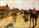 Art - Oil Paintings - Masterpiece #4102 - Edgar Degas - Horses Before the Stands - Gallery Quality