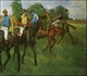 Art - Oil Paintings - Masterpiece #4103 - Edgar Degas - Race Horses_a - Gallery Quality