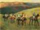 Art - Oil Paintings - Masterpiece #4104 - Edgar Degas - Racehorses in Landscape - Gallery Quality