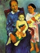 Art - Oil Paintings - Masterpiece #4125 - Paul Gauguin - Tahitian Woman with Children 4 - Museum Quality