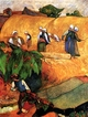 Art - Oil Paintings - Masterpiece #4159 - Paul Gauguin - Harvest Scene - Gallery Quality