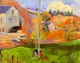 Art - Oil Paintings - Masterpiece #4161 - Paul Gauguin - Breton Landscape - Gallery Quality