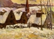 Art - Oil Paintings - Masterpiece #4162 - Paul Gauguin - Breton Village in the Snow - Museum Quality