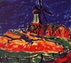 Art - Oil Paintings - Masterpiece #4171 - Erich Heckel - Windmill, Dangast - Museum Quality